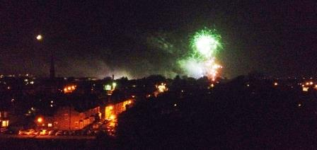 Fireworks on Pitchcroft, Worcester